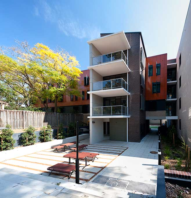 Robert Menzies College_courtyard, student housing