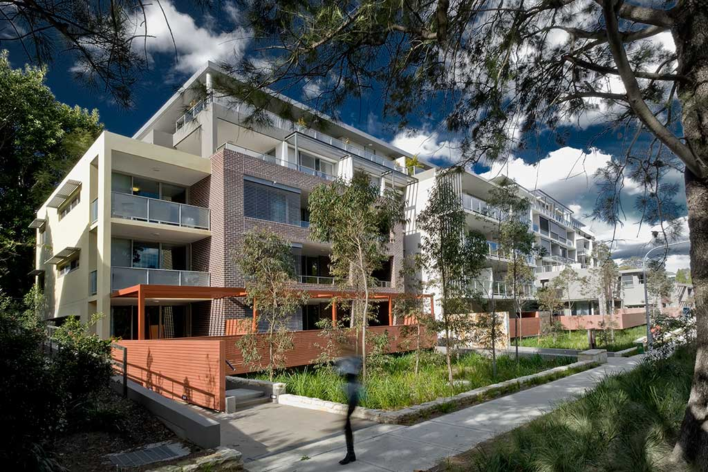 pavilions on the park_exterior, st leonards, multi residential