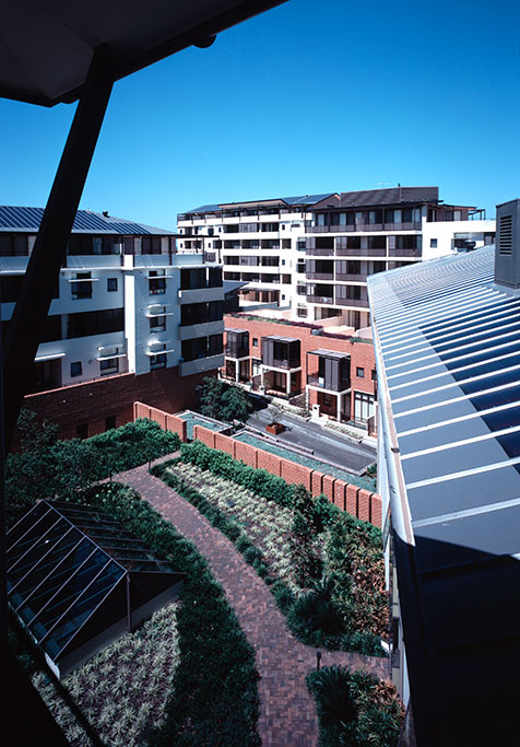 Kogarah Town square_courtyard,solar panel roof