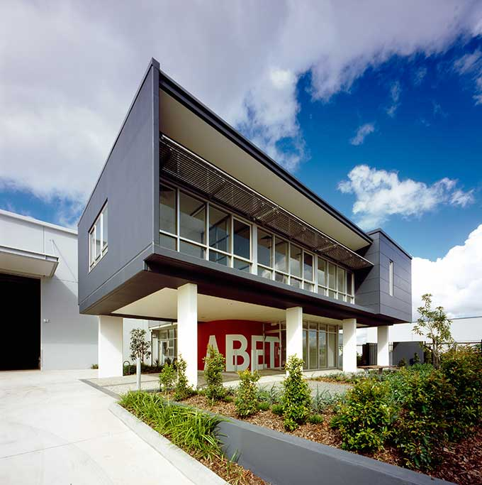 abet laminati queensland office, commercial, super graphics