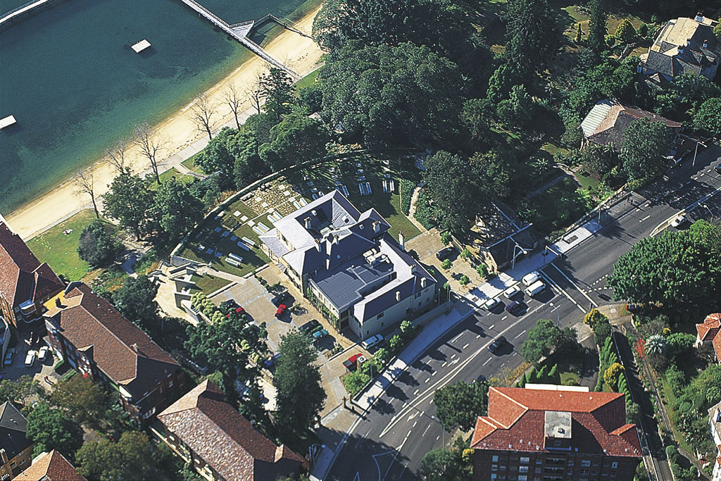 redleaf, woollahra council chambers_aerial