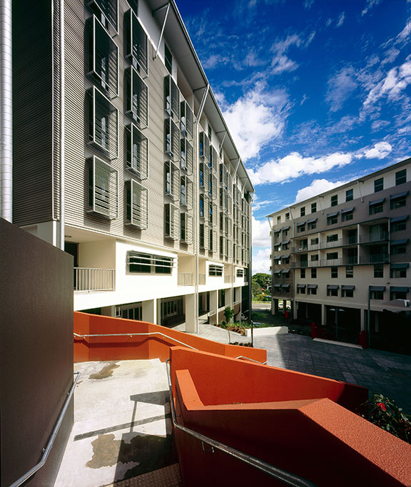 Campus_Living_Villages_QUT_exterior_courtyard, student housing