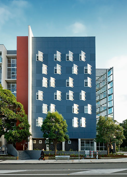 New College_view from street, Sydney University, Student housing