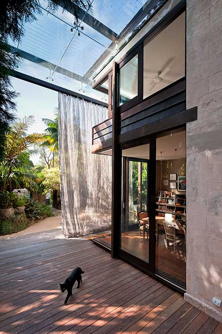 glass_loggia_house,glebe house, single residential