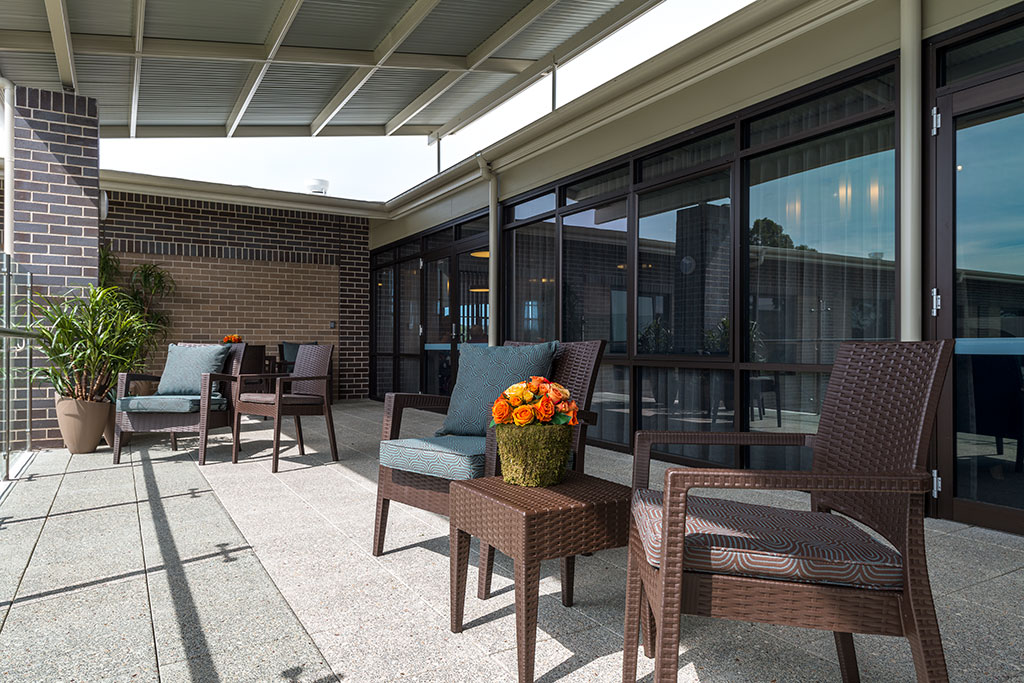 Quakers_hill_balcony, seniors living, aged care