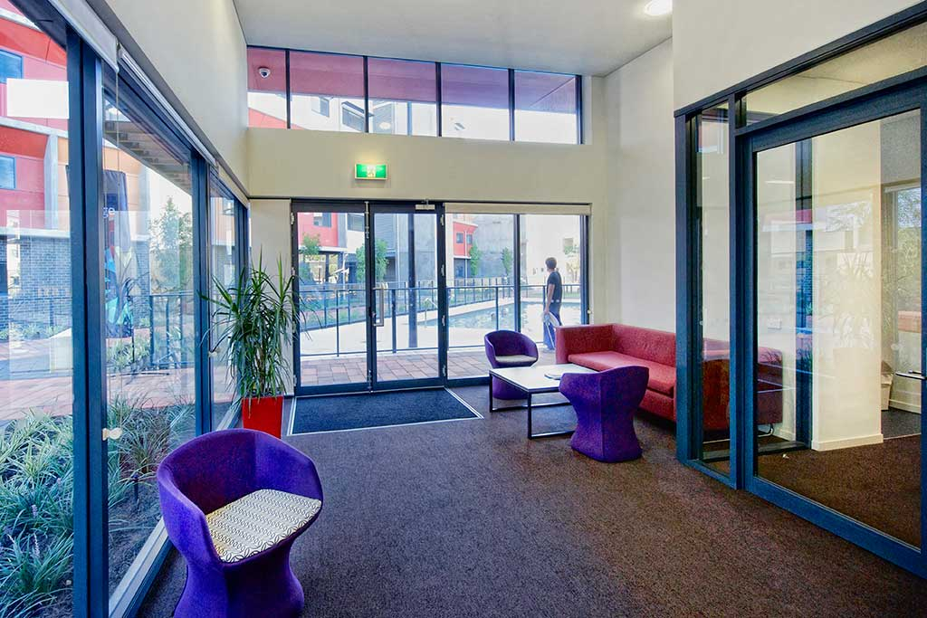 Edith Cowan University Western Australia communal area