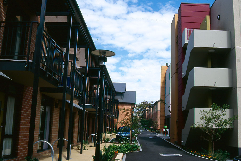 Sydney University Village, student housing, internal road