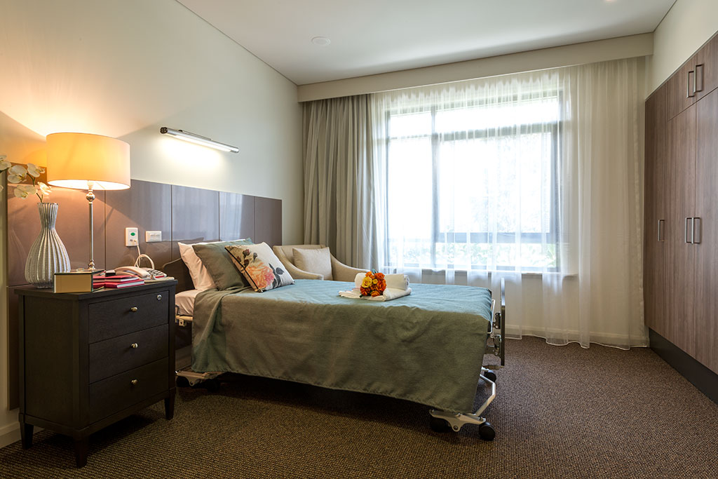 Quakers_hill_bedroom, seniors living, aged care