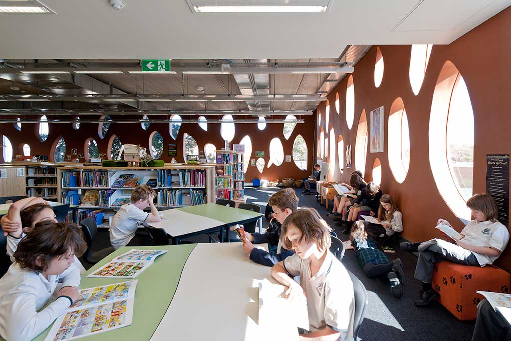 Kerrie Murphy Building International Grammar school Sydney interior library
