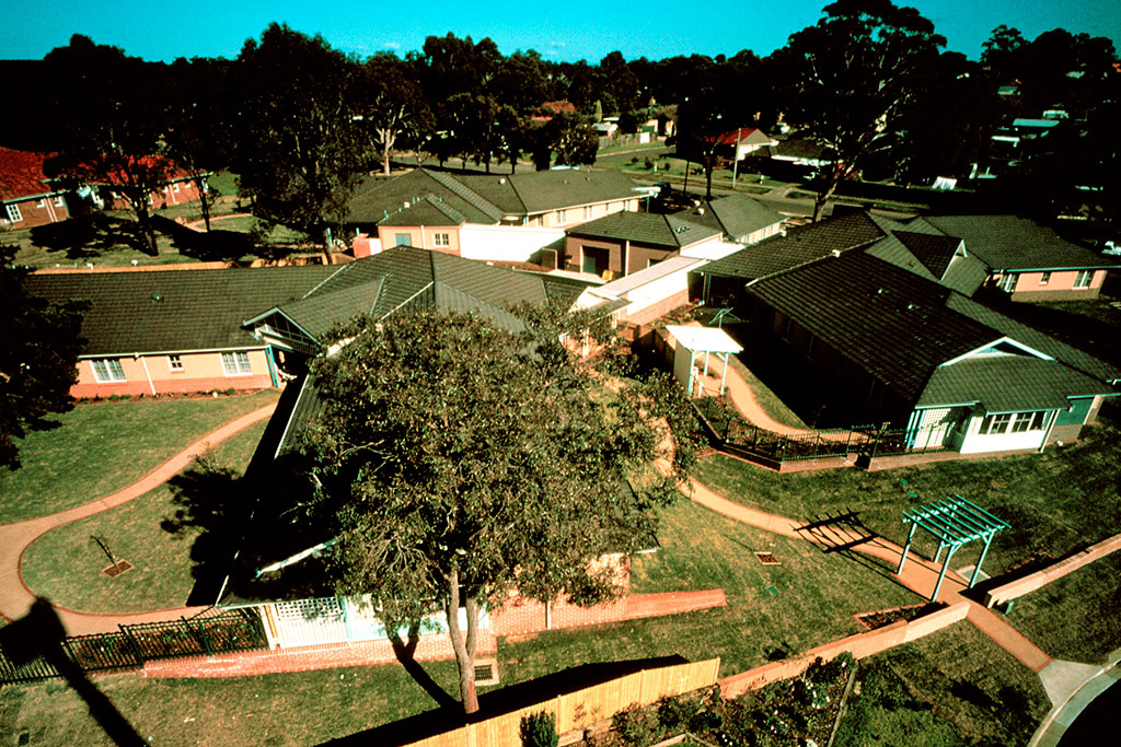 aerial view of The Pines