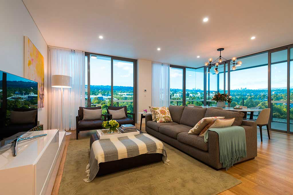 Macquarie Park Village display suite lounge