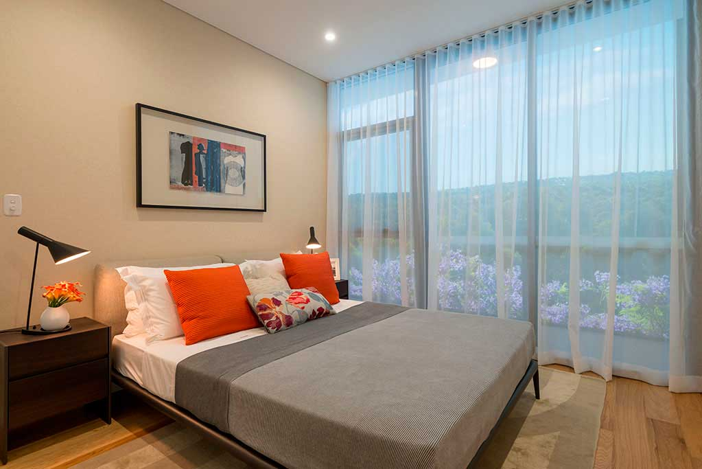Macquarie Park Village display suite bedroom