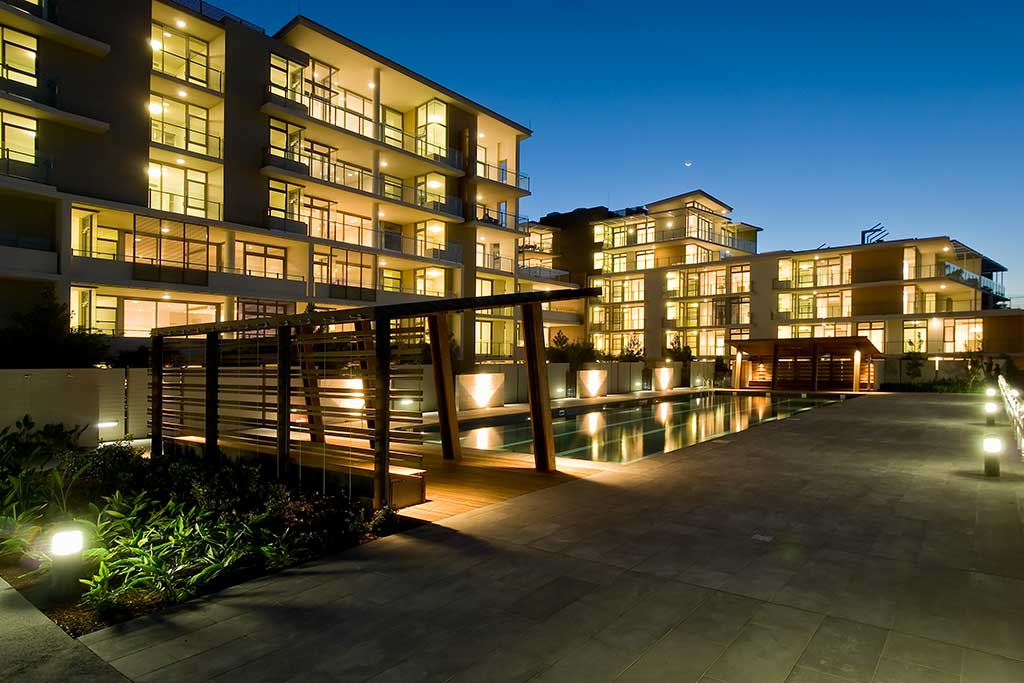 Balgowlah Village retail entry from street, stockland, urban public area,multi residential, pool