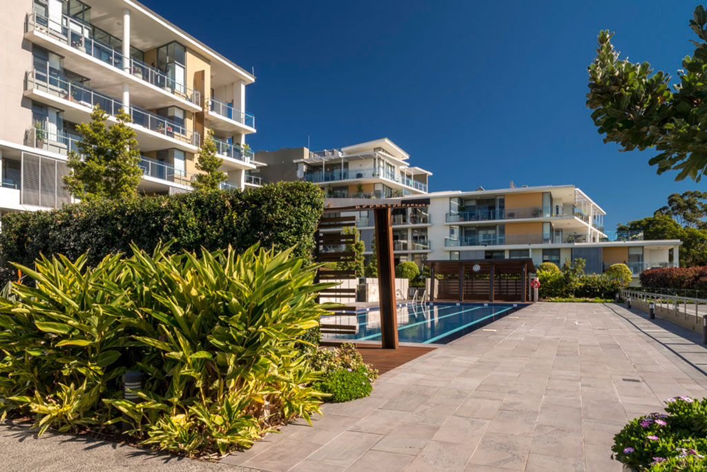Balgowlah Village, stockland, urban public area,multi residential, pool