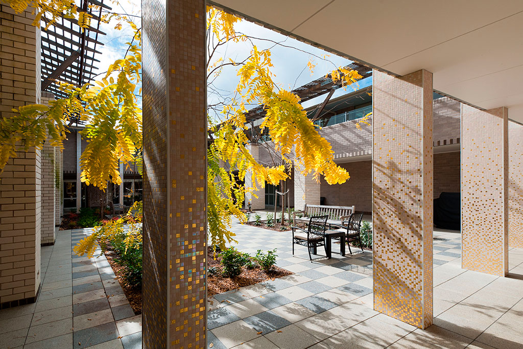 Bupa bankstown central courtyard