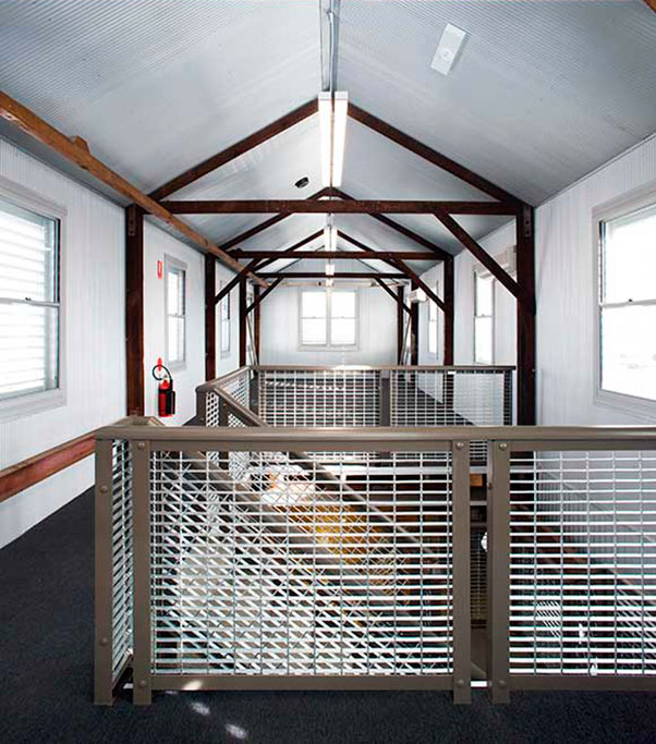 crago flour mill interior, heritage conversion
