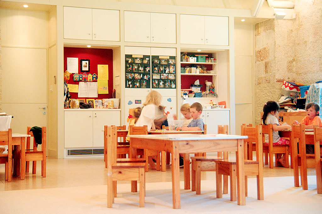 Kindergarten interior, heritage conversion